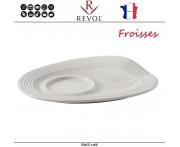 Блюдце Froisses, L 13 см, W 10 см, фарфор, REVOL, Франция