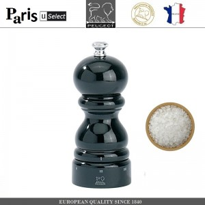 Мельница Paris U Select Laque Noir для соли, H 12 см, черный, PEUGEOT, Франция, арт. 8701, фото 1