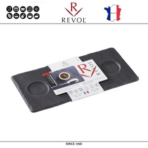 Блюдо BASALT для подачи с 3-мя выемками, D 4 см, 25x 11.7 см, REVOL, Франция, арт. 8825, фото 4