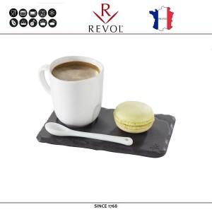 Блюдо BASALT для подачи с выемкой для чашки, D 4 см, 14 x 8 см, REVOL, Франция, арт. 8821, фото 2