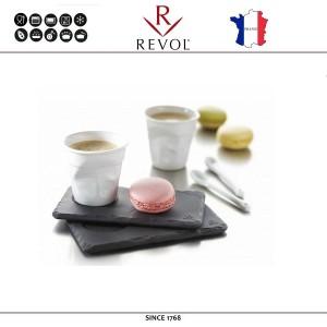 Блюдо BASALT для подачи с выемкой для чашки, D 4 см, 14 x 8 см, REVOL, Франция, арт. 8821, фото 4