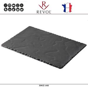 Блюдо BASALT для подачи прямоугольное, 30 x 20 см, REVOL, Франция, арт. 8835, фото 1