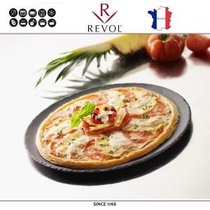 Блюдо BASALT для выпекания и подачи пиццы, D 32 см, керамика, REVOL, Франция, арт. 8831, фото 5