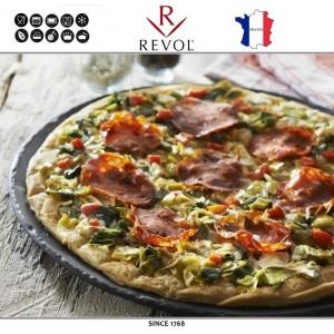 Блюдо BASALT для выпекания и подачи пиццы, D 32 см, керамика, REVOL, Франция, арт. 8831, фото 2