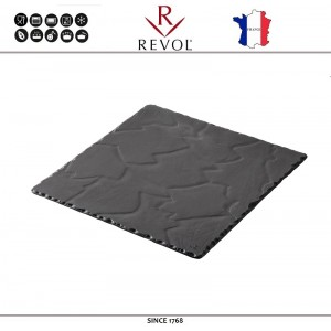 Доска BASALT для подачи квадратная, 15 x 15 см, REVOL, Франция, арт. 8826, фото 1