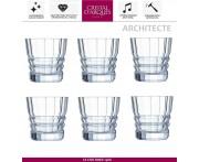 Набор низких стаканов ARCHITECTE для виски, 6 шт, 320 мл, Cristal D'arques, Франция