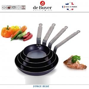 Сковорода Force Blue, D 24 см, голубая сталь, de Buyer, Франция, арт. 4748, фото 4