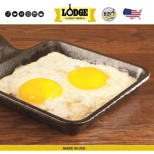 Сковорода для завтрака, 13 x 13 см, литой чугун, Lodge, США, арт. 5241, фото 8