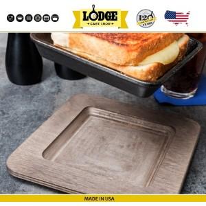 Сковорода для завтрака, 13 x 13 см, литой чугун, Lodge, США, арт. 5241, фото 7