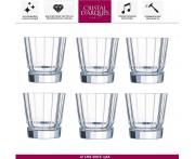 Набор низких бокалов MACASSAR для виски, 6 шт, 380 мл, Cristal D'arques, Франция