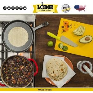 Сковорода для блинов и фахитас (без подставки), D 21 см,  чугун, Lodge, США, арт. 5211, фото 8