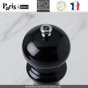 Мельница Paris U Select Laque Noir для соли, H 12 см, черный, PEUGEOT, Франция, арт. 8701, фото 2