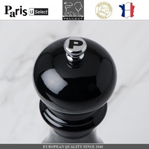 Мельница Paris U Select Laque Noir для перца, H 12 см, черный, PEUGEOT, Франция, арт. 32829, фото 2