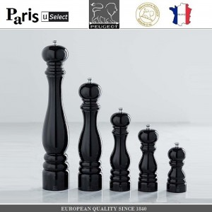 Мельница Paris U Select Laque Noir для перца, H 12 см, черный, PEUGEOT, Франция, арт. 32829, фото 8