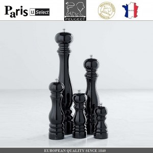 Мельница Paris U Select Laque Noir для соли, H 12 см, черный, PEUGEOT, Франция, арт. 8701, фото 8