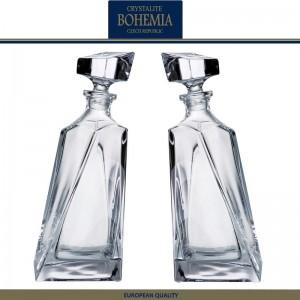 Графин-штоф LOVERS двойной для виски, коньяка, 2 шт, 650 мл, хрусталь, Bohemia, Чехия, арт. 7337, фото 2