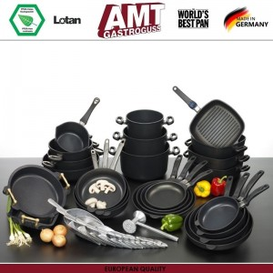 Антипригарная сковорода, D 20 см, H 4 см, индукционное дно, съемная ручка, AMT, Германия, арт. 111, фото 8
