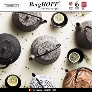 Заварочный чайник STUDIO чугунный с ситечком, 1.4 л, цвет черный, BergHOFF, арт. 89799, фото 5