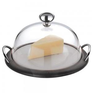 Блюдо для сыра с крышкой dia 31 см, цвет венге, серия Lola Wenge, CASA BUGATTI, Италия, арт. 368, фото 2