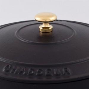 Кастрюля чугунная, черная эмаль, 3.8 л, D 24 см, серия BLACK, CHASSEUR, Франция , арт. 444, фото 3
