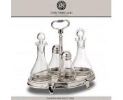 Набор SIENA столовый (масло, уксус, соль, перец), стекло, олово, Cosi Tabellini, Италия