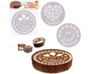 Набор декораторов для пирога, торта, 3 шт D 20.5 см, пластик пищевой, MD