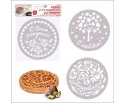 Набор декораторов для пирога, торта, 3 шт D 23 см, пластик пищевой, MD