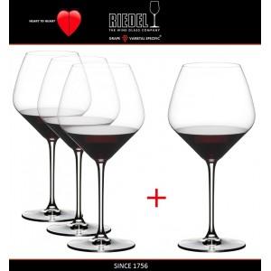 Heart to Heart Набор бокалов для красных вин Pinot Noir, 4 шт, объем 770 мл, хрустальное стекло, Riedel, Австрия, арт. 87579, фото 2