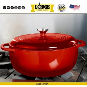 Кастрюля-жаровня эмалированная, 7 л, D 30 см , Lodge, США, арт. 15621, фото 9