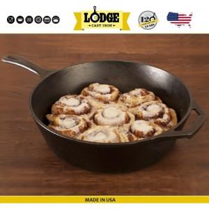Сковорода глубокая со стеклянной крышкой, D 26 см, литой чугун, Lodge, США, арт. 15589, фото 7