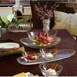 Емкость порционная для десертов, салатов, L 13 см, H 6,5 см, бессвинцовый хрусталь, серия Papaya, EgoAlter, Италия, арт. 76147, фото 5
