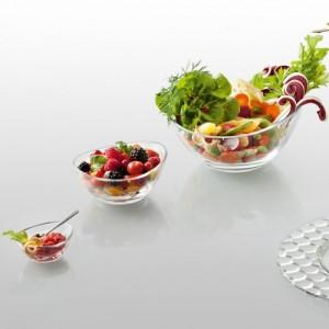 Емкость порционная для десертов, салатов, L 13 см, H 6,5 см, бессвинцовый хрусталь, серия Papaya, EgoAlter, Италия, арт. 76147, фото 3