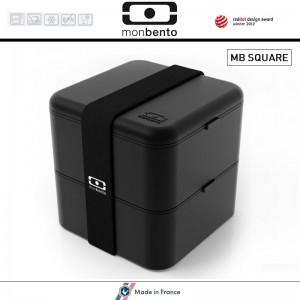 Ланч-бокс MB Square, черный, Monbento, Франция, арт. 35135, фото 1