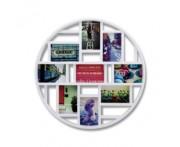 Панно для фотографий luna белое, L 58 см, W 4,5 см, H 58 см, Umbra, Канада