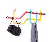 Вешалка subway разноцветная, H 2,7 см, L 57,5 см, W 20,5 см, металл, Umbra, Канада