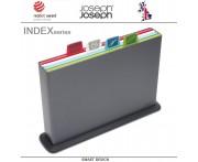 Набор разделочных досок INDEX & APOS большой, 5 предметов, графит, Joseph Joseph, Великобритания