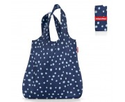 Сумка складная mini maxi shopper spots navy, L 43,5 см, W 7 см, H 60 см, Reisenthel, Германия