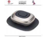 Дозатор Smartbar для жидкого мыла с функцией удаления от неприятных запахов, стальной, Joseph Joseph, Великобритания