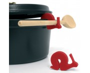 Держатель крышки-клипса для ложки hugo красный, L 6,5 см, W 1,5 см, H 7 см, LIB, Франция
