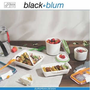 Lunch Pot ланч-бокс 2 в 1, 300 и 500 мл, бело-оранжевый, Black+Blum, арт. 12176, фото 5