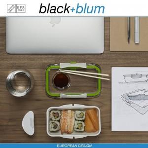 Bento Box Appetit ланч-бокс с разделителем, белый-оранжевый, Black+Blum, арт. 12170, фото 7