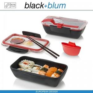 Bento Box Appetit ланч-бокс с разделителем, черный-красный, Black+Blum, арт. 12171, фото 2