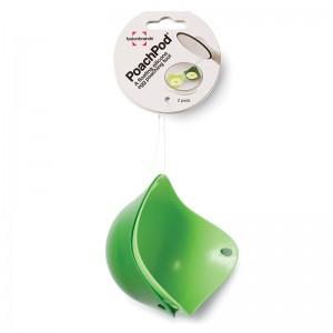 Формы для варки яйца без скорлупы 2 шт. зеленые, L 9 см, W 9 см, H 6,5 см, Fusionbrands, США, арт. 17099, фото 2