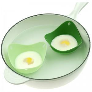 Формы для варки яйца без скорлупы 2 шт. зеленые, L 9 см, W 9 см, H 6,5 см, Fusionbrands, США, арт. 17099, фото 9