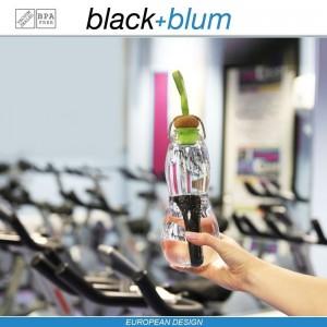 Eau Good эко-бутылка для воды с угольным фильтром, 600 мл, голубой, Black+Blum, арт. 12134, фото 9
