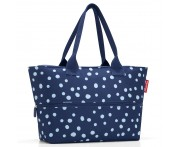 Сумка shopper e1 spots navy, L 50 см, W 16,5 см, H 27 см, Reisenthel, Германия