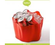 Емкость Flow многофункциональная, 26 x 26 см, H 20 см, пластик, красный, Qualy