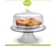Подставка Sparrow для пирогов, тортов, десертов, D 30 см, белый, Qualy