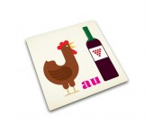 Доска разделочная coq au vin стеклянная, L 30 см, Joseph Joseph, Великобритания