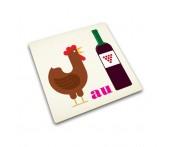 Доска разделочная coq au vin стеклянная, L 30 см, W 1 см, H 30 см, Joseph Joseph, Великобритания